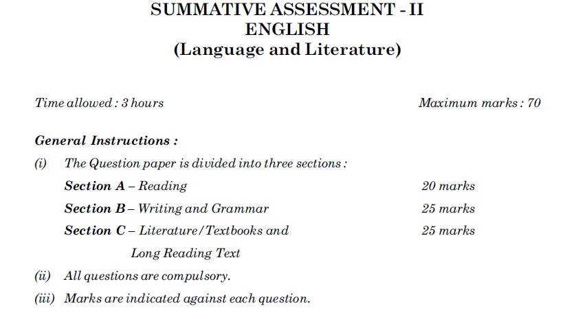 english language and literature question paper Class ix sample paper english (language and literature) mm 80 time 3:00 hrs the question paper is divided into four sections: section a: reading comprehension 15.