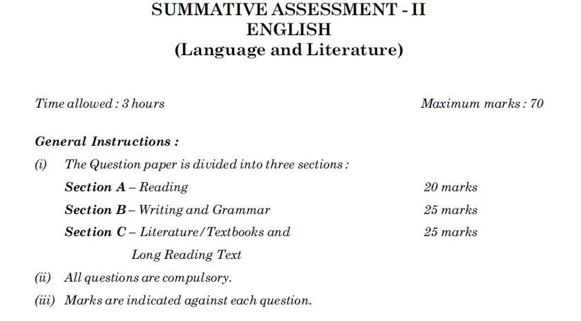 Cbse class 10 exam 2016 all india scheme question paper english cbse class 10 exam 2016 english language literature set 1 malvernweather Gallery