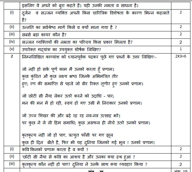 Physics Science Definition In Hindi: (Download) CBSE Class-10 Sample Paper And Marking Scheme
